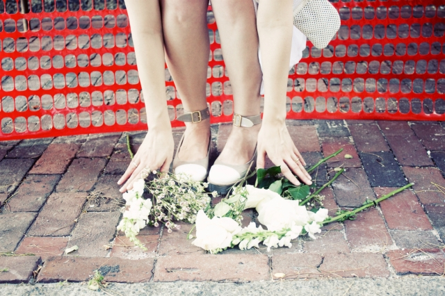 flowers and feets
