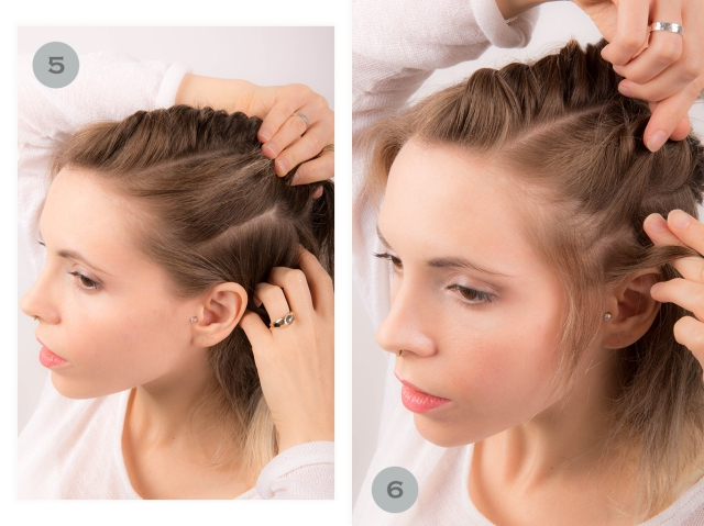 covetous creatures | 90s inspired twist hair tutorial steps 5 and 6